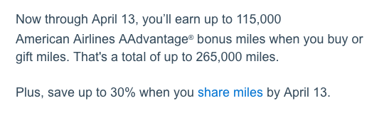Buy American Airlines miles for 1.8¢