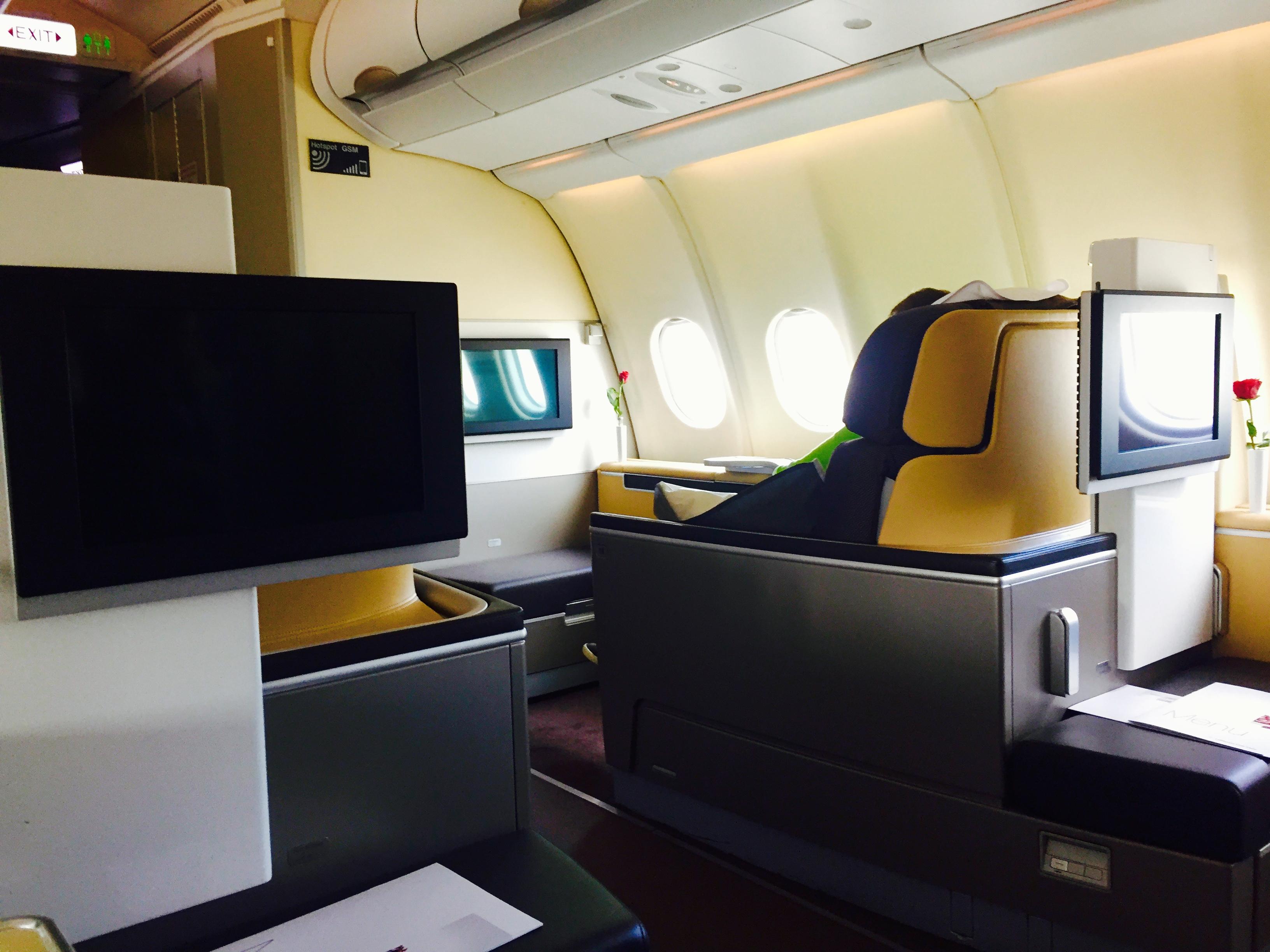 Lufthansa First Class Frankfurt to Dallas