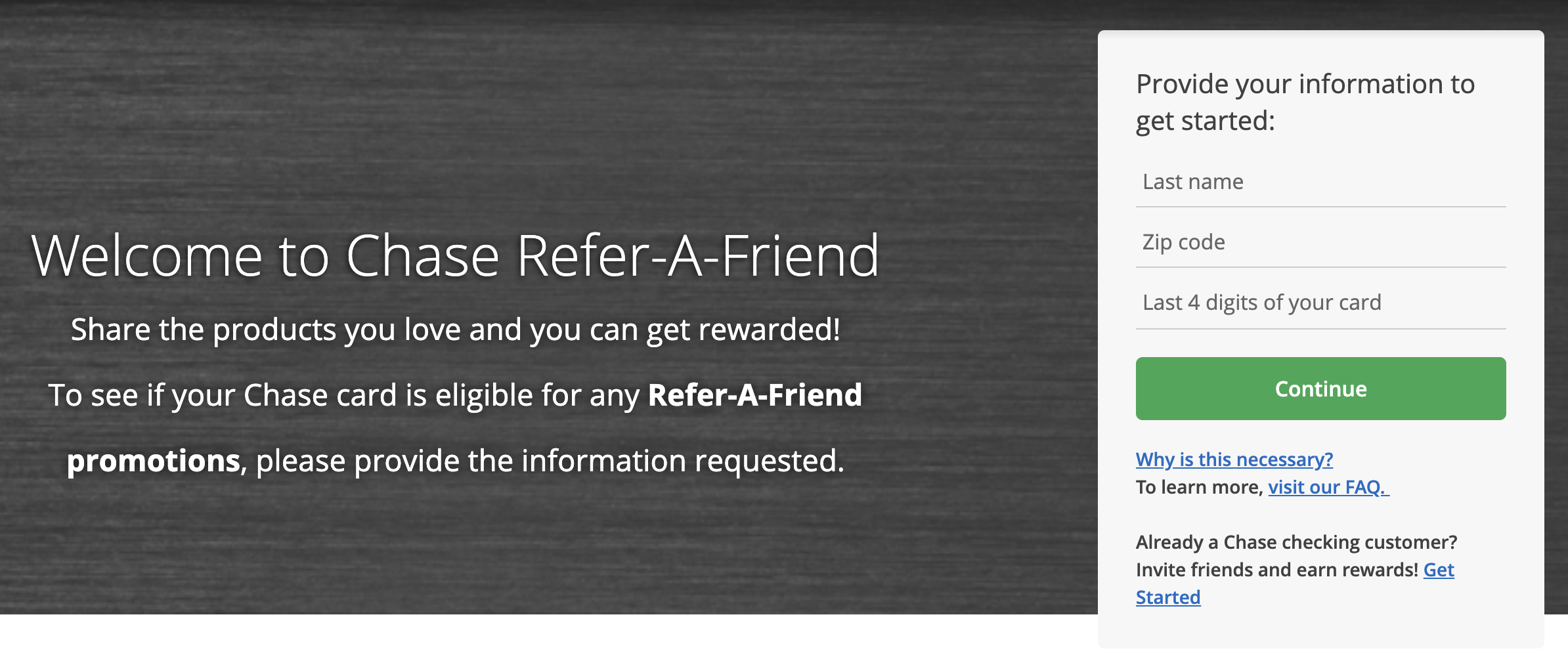 Chase Refer a Friend Catch All